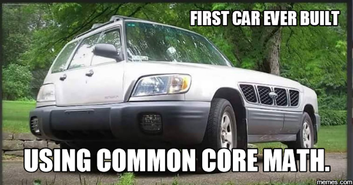 First car built with Common core math!