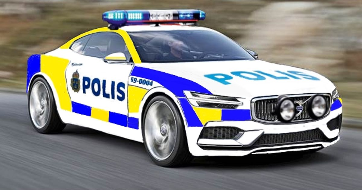 Mazda 3 Police Car >> Realized i never seen a C90 police car before so i made one (Sweden)