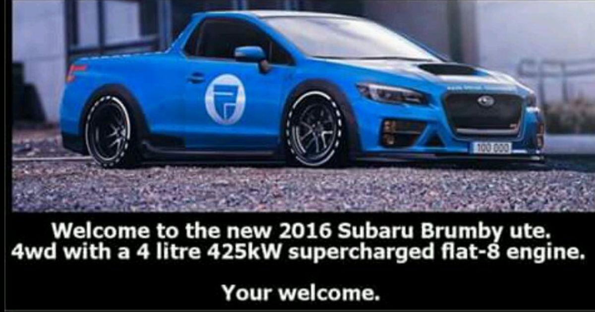 Subaru brumby 2016