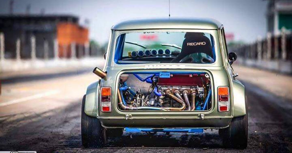 Honda Vtec Swed Transverse Mounted Rear Engine Wheel Drive Mini Cooper