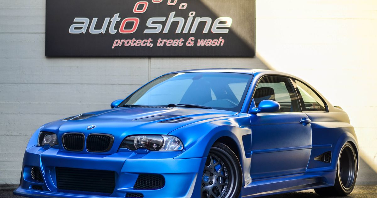 So I Had The Privilege To Be The First Person To Shoot This Freshly Wrapped In Matte Blue Bmw E46 M3 Hpf