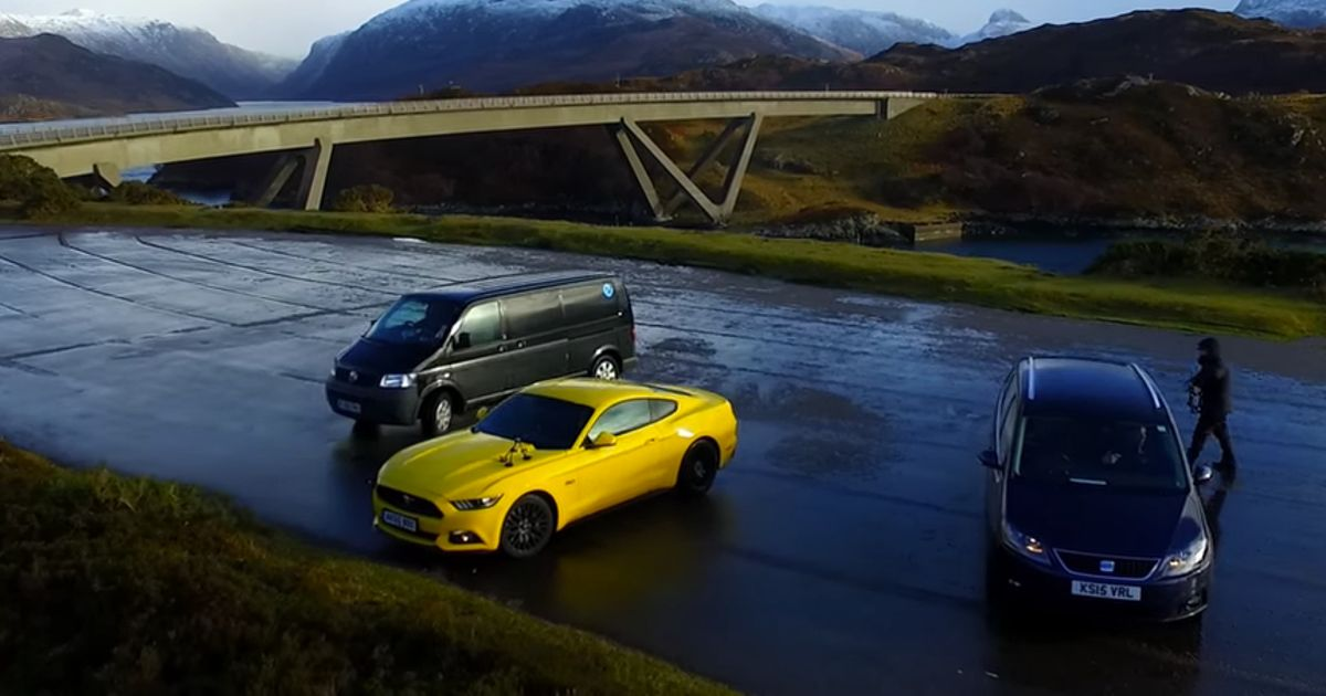 New top gear has been spied shooting ford mustangs and reliant robins publicscrutiny Image collections