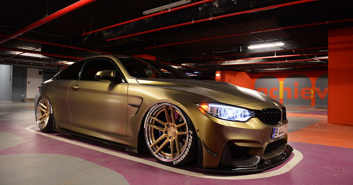 BAGGED BMW M4 | ZP.FORGED 2 in Royal Gold / Polished Lip