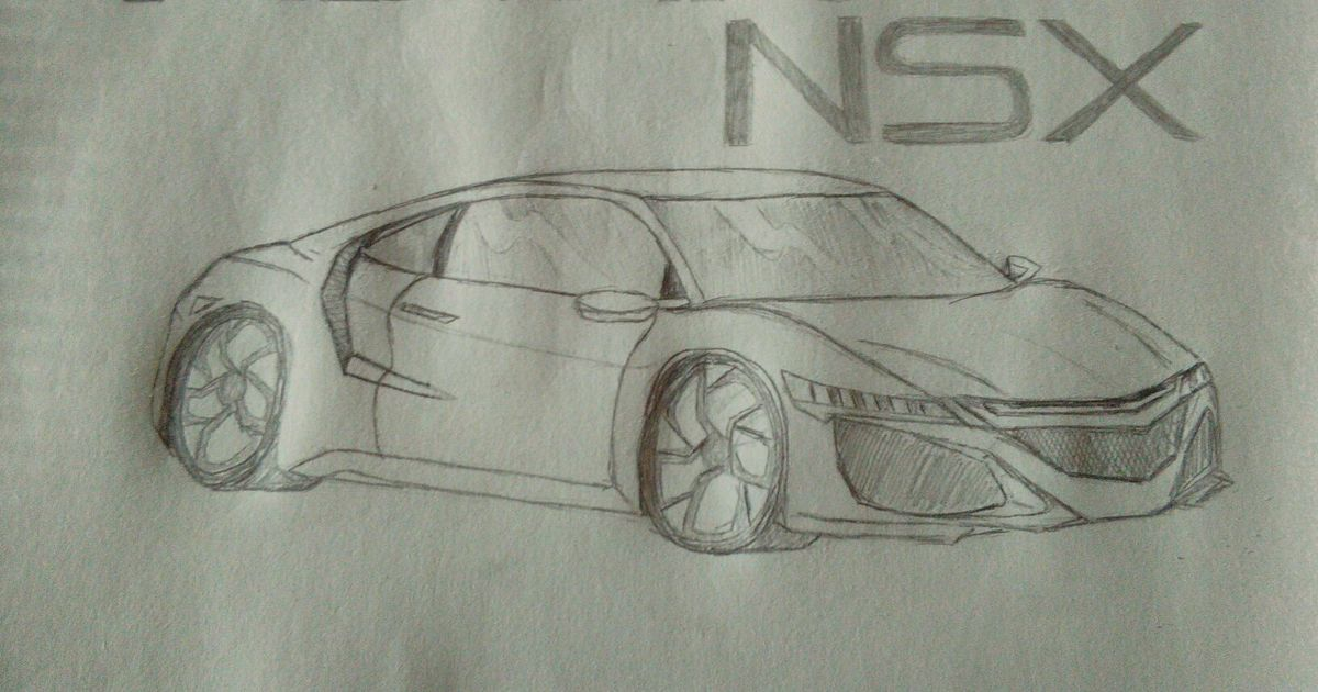 Amateur Drawing Of 2017 Acura Nsx