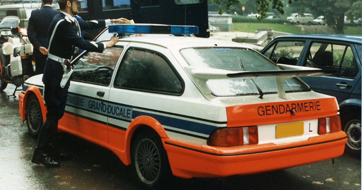 Ford Sierra Rs Cosworth Police Car That Must Have Been A Scary Sight In The 80s Follow My