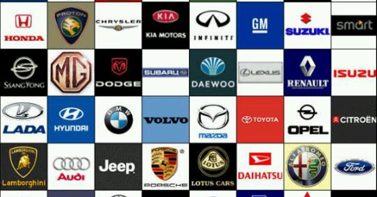 Name As Many Car Manufacturers As You Can Within A 15 Letter Limit