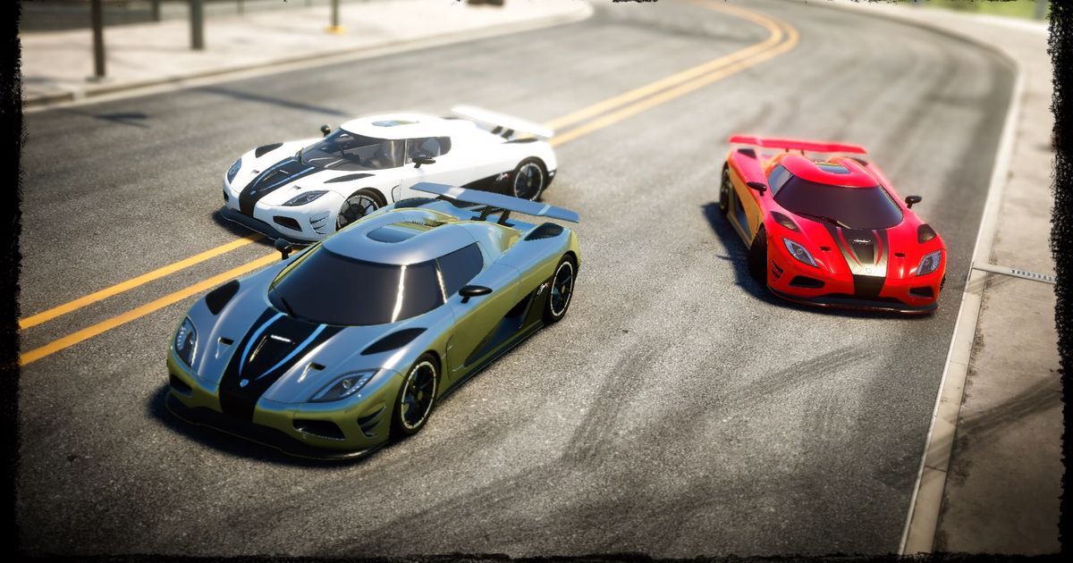 The Three Agera R S From The Need For Speed Movie Made On The Crew