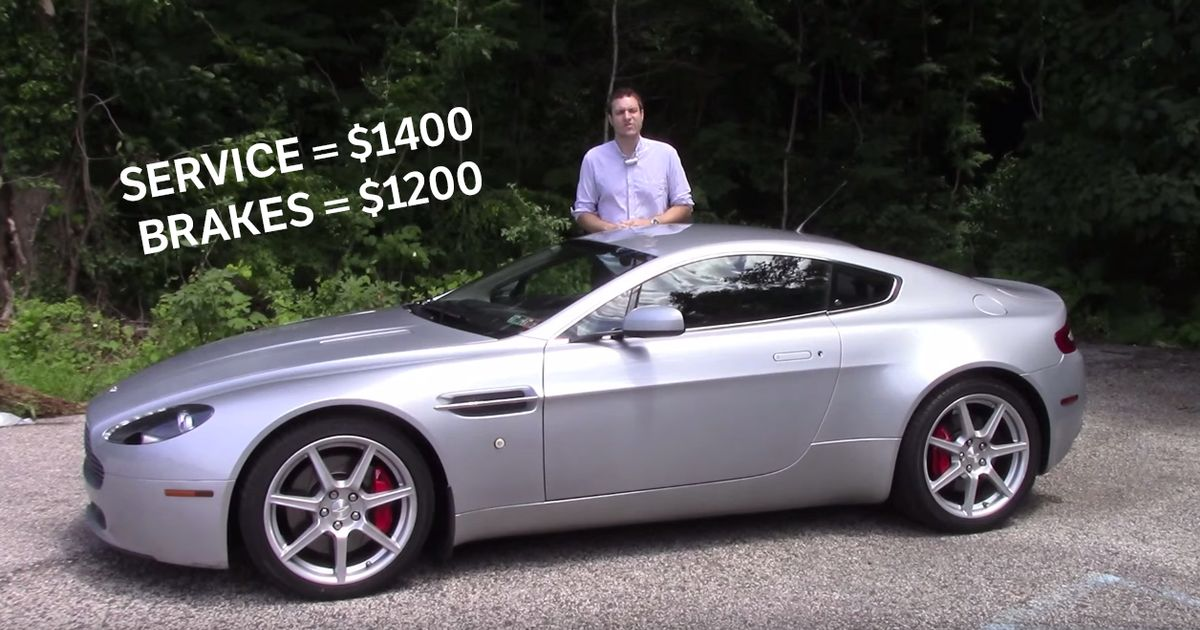How Much Does It Cost To Run A Used Aston Martin V8 Vantage?