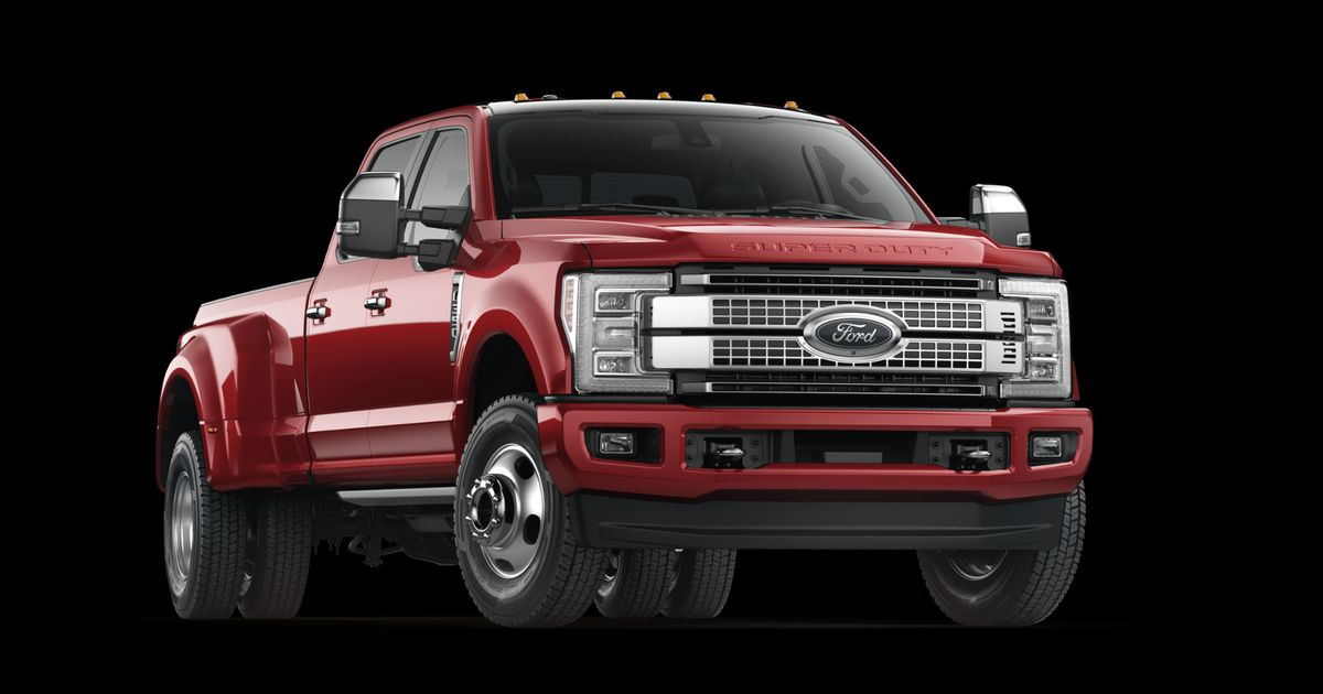 2017 Ford Super Duty F 350 Platinum Configuration