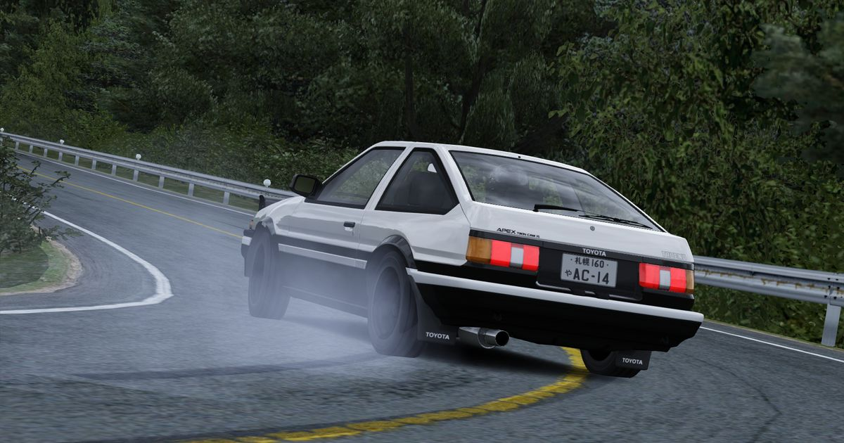 Assetto Corsa Drifting With A Stock Ae86 At Mt Akina