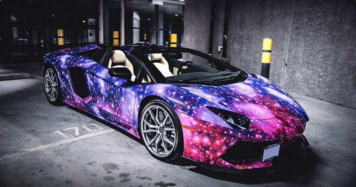 Space Wrap Of The Lamborghini Aventador Roadster
