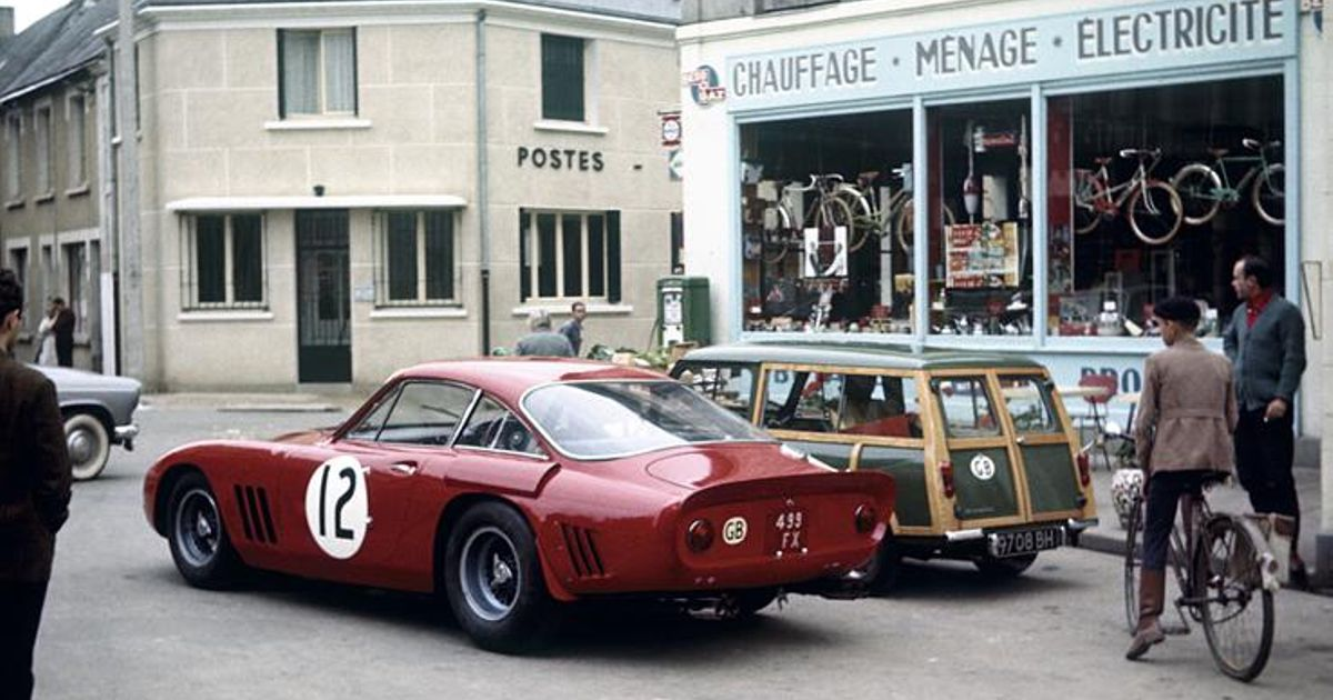 The Ferrari 330 Lmb 4725sa Out On The Streets Of Le Mans 1963
