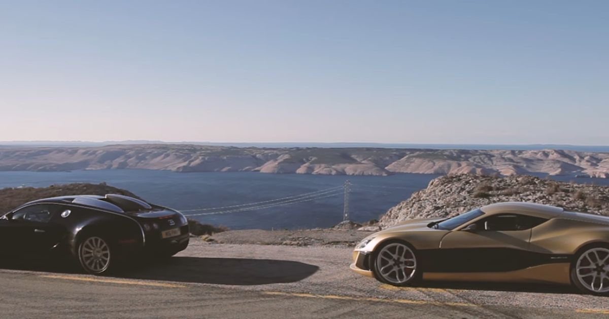 Watch A Bugatti Veyron Struggle To Keep Up With The Mighty Rimac Concept One