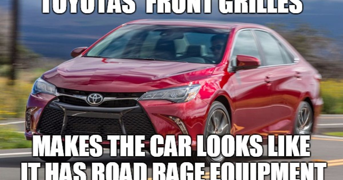 Again Complaining About Toyota S New Front Grille Designs Again As A Toyota Fan