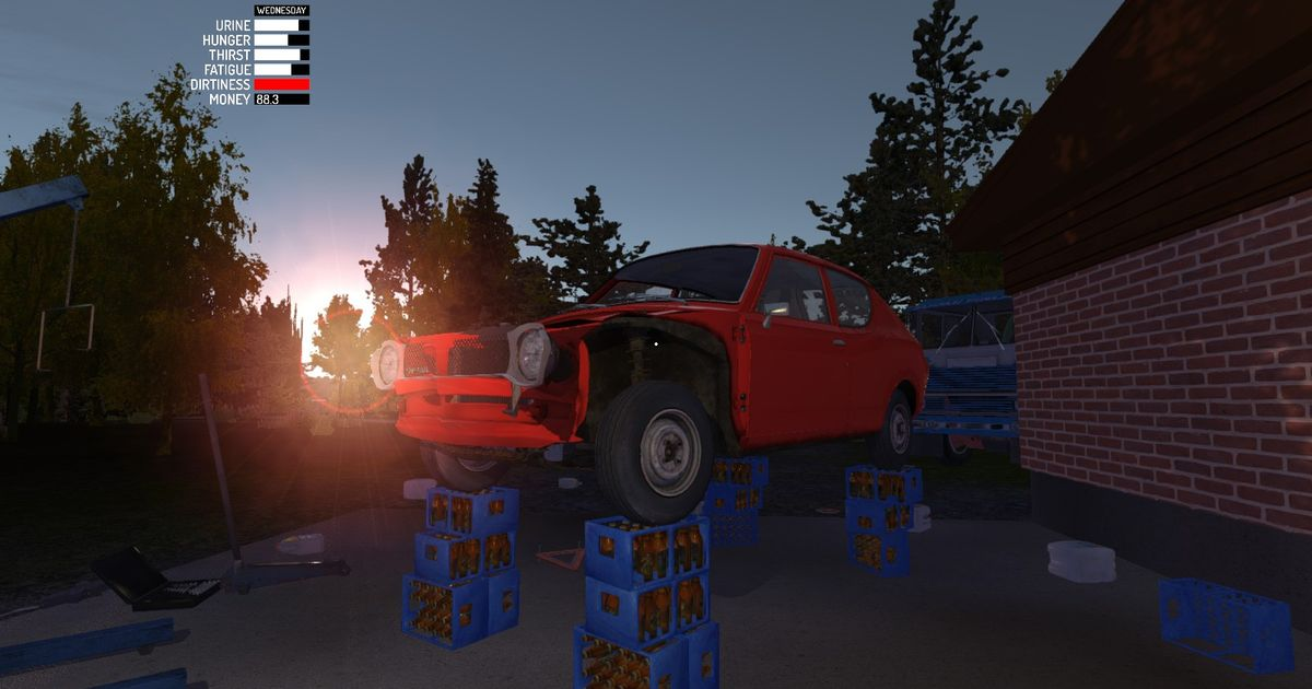 Subaru Build Your Own >> my 4 post lift in My summer car