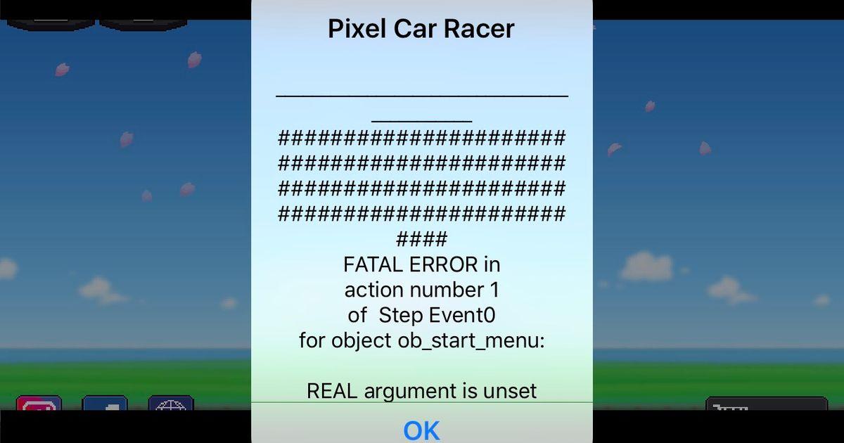Pixel car racer it keeps crashing