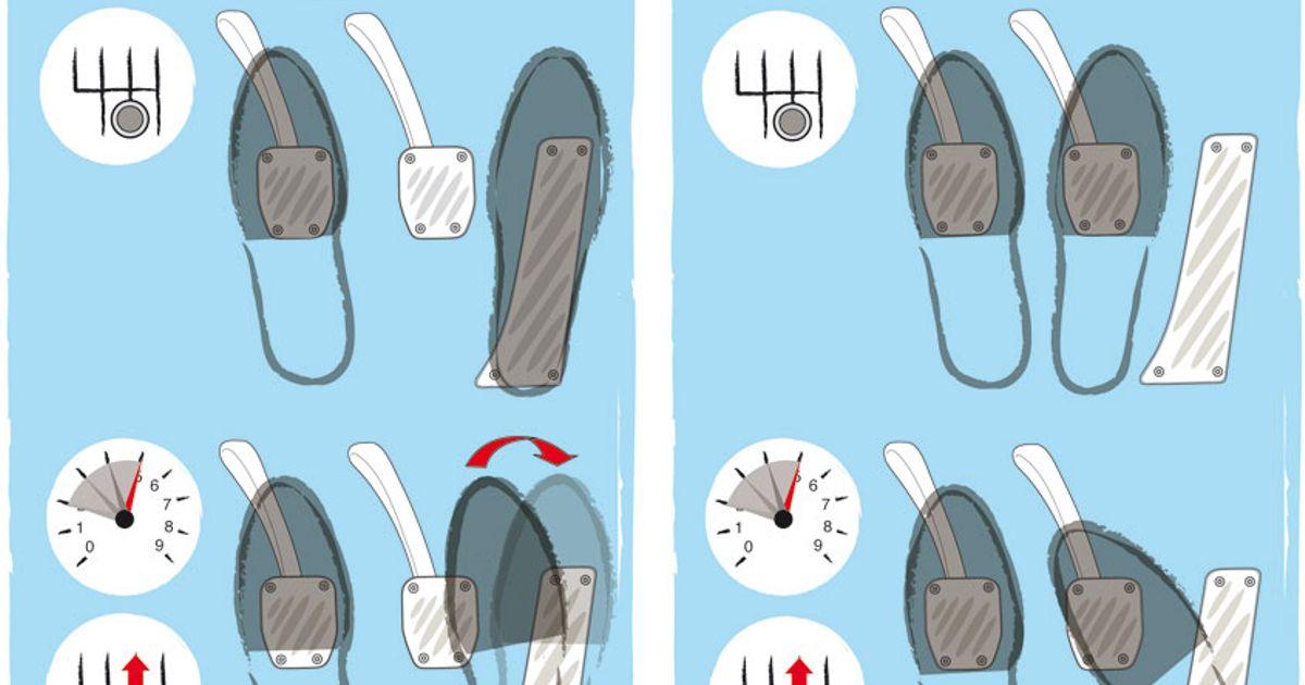 Heel toe downshifting