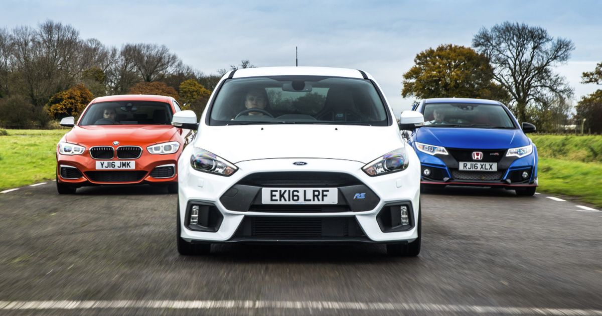 awd vs rwd vs fwd focus rs civic type r m140i track battle. Black Bedroom Furniture Sets. Home Design Ideas