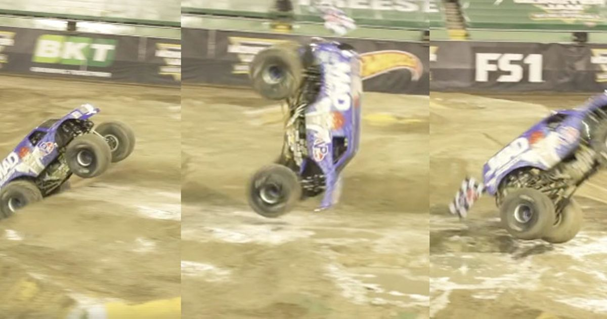 This Historic Monster Truck Front Flip Will Astonish You