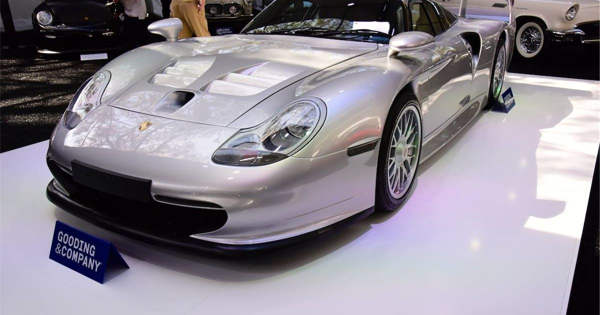 a porsche 911 gt1 stra enversion just sold at auction for. Black Bedroom Furniture Sets. Home Design Ideas