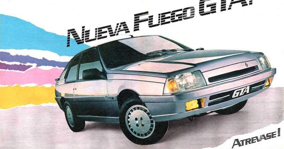 1990 Argentine Renault Fuego Gta Max Ad