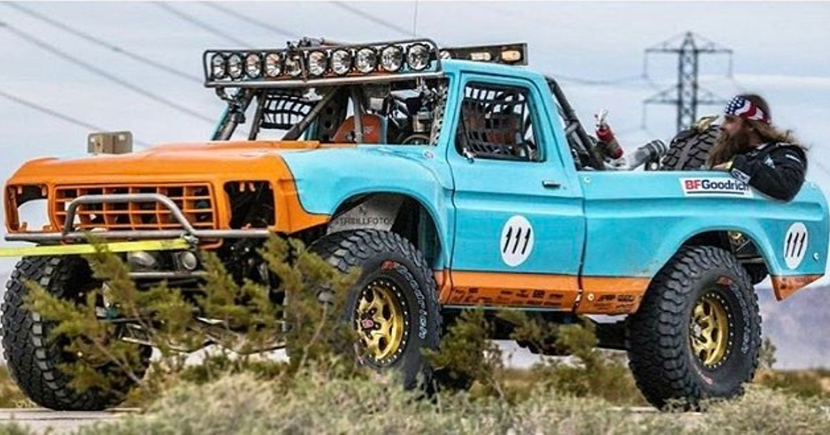 diesel brothers in his new truck in the mint 400. Black Bedroom Furniture Sets. Home Design Ideas