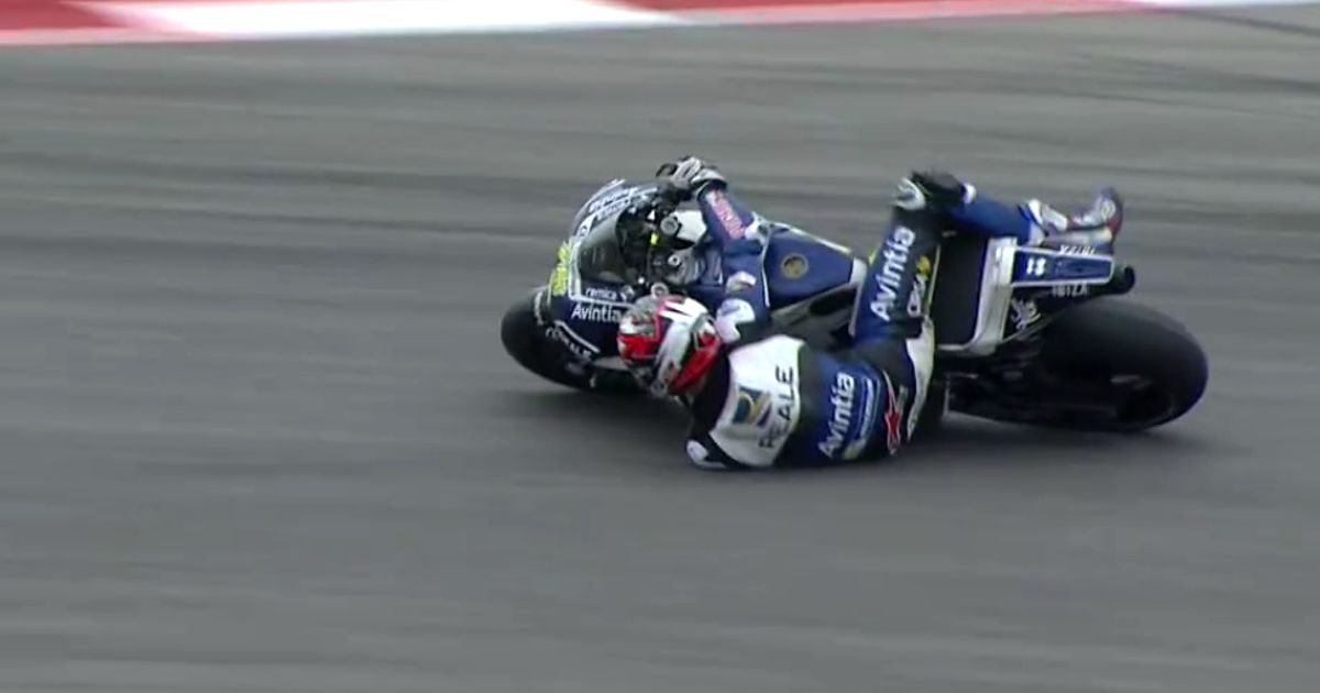 Watch A MotoGP Rider Make An Impossible Save