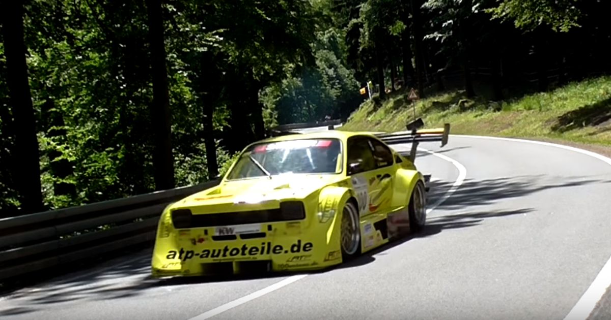 This Mad Opel Kadett Has A Flat-Plane-Converted Chevy V8 Under The Bonnet