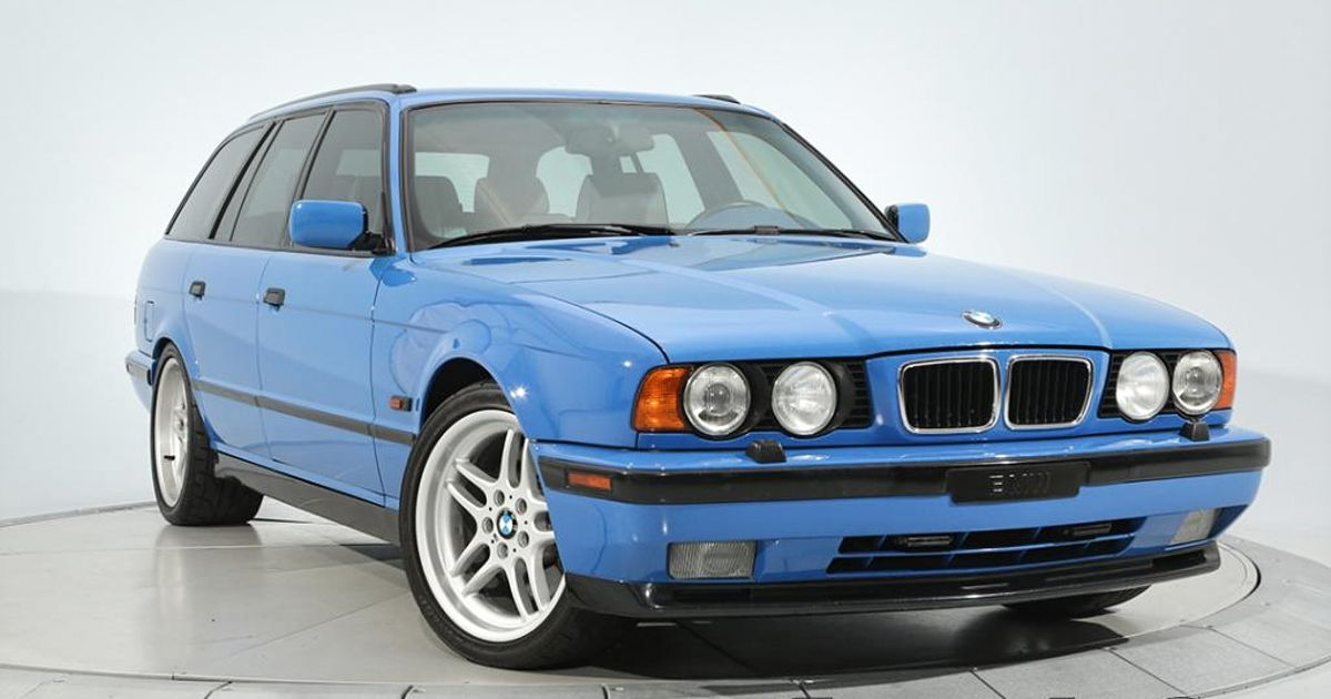 This Restored High-Mileage BMW E34 M5 Touring Is Somehow Priced At $130,000