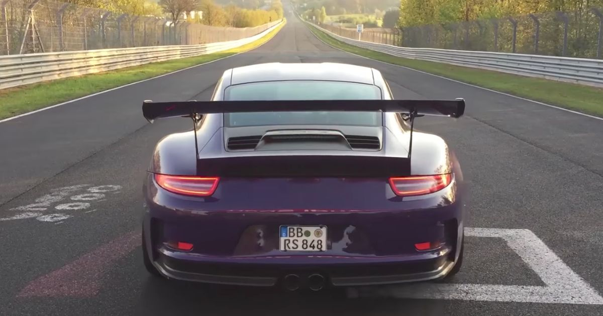Watch In Awe As A Modified Porsche 911 GT3 RS Clocks A 7min 9sec 'Ring Lap