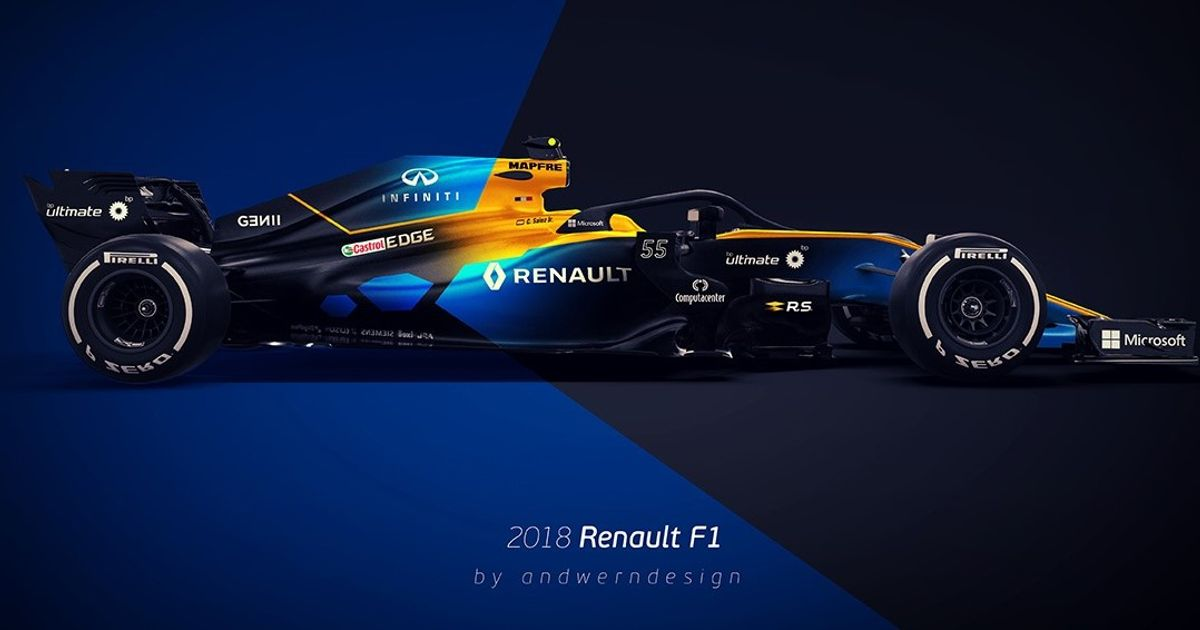 this 2018 renault f1 concept looks so damn good. Black Bedroom Furniture Sets. Home Design Ideas