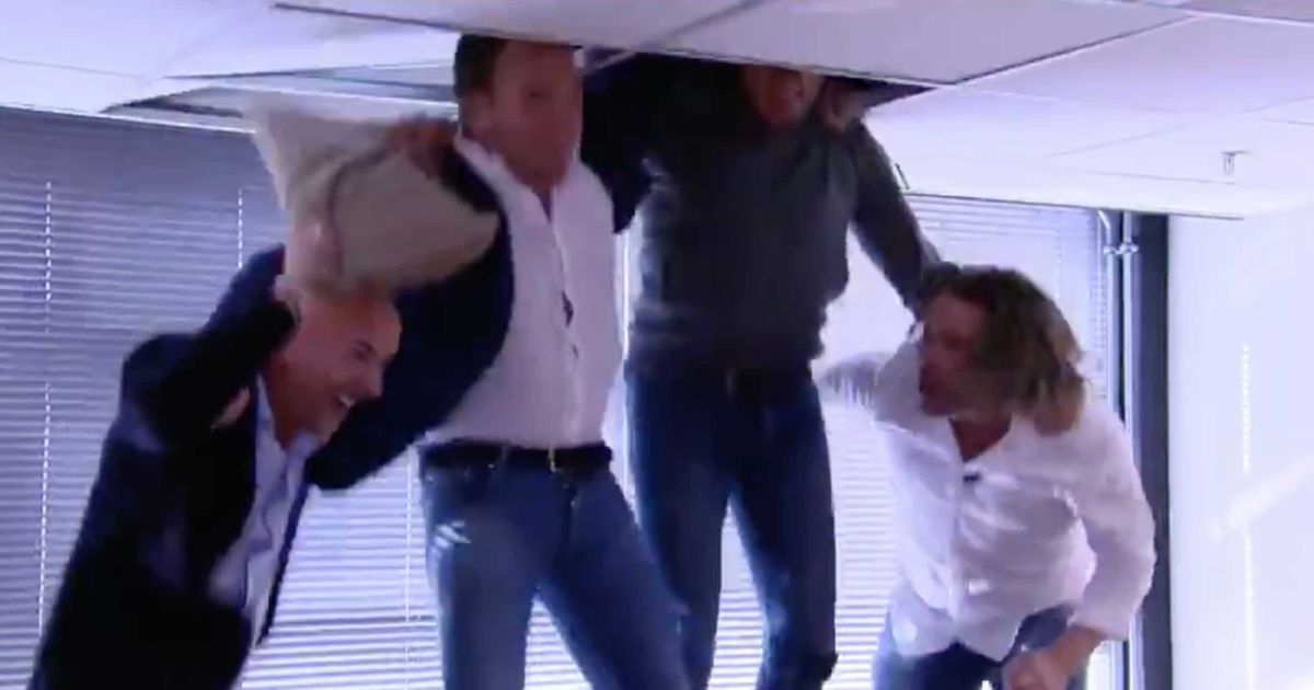 Dutch TV Presenters Got So Excited By Verstappen's Win They Broke The Ceiling