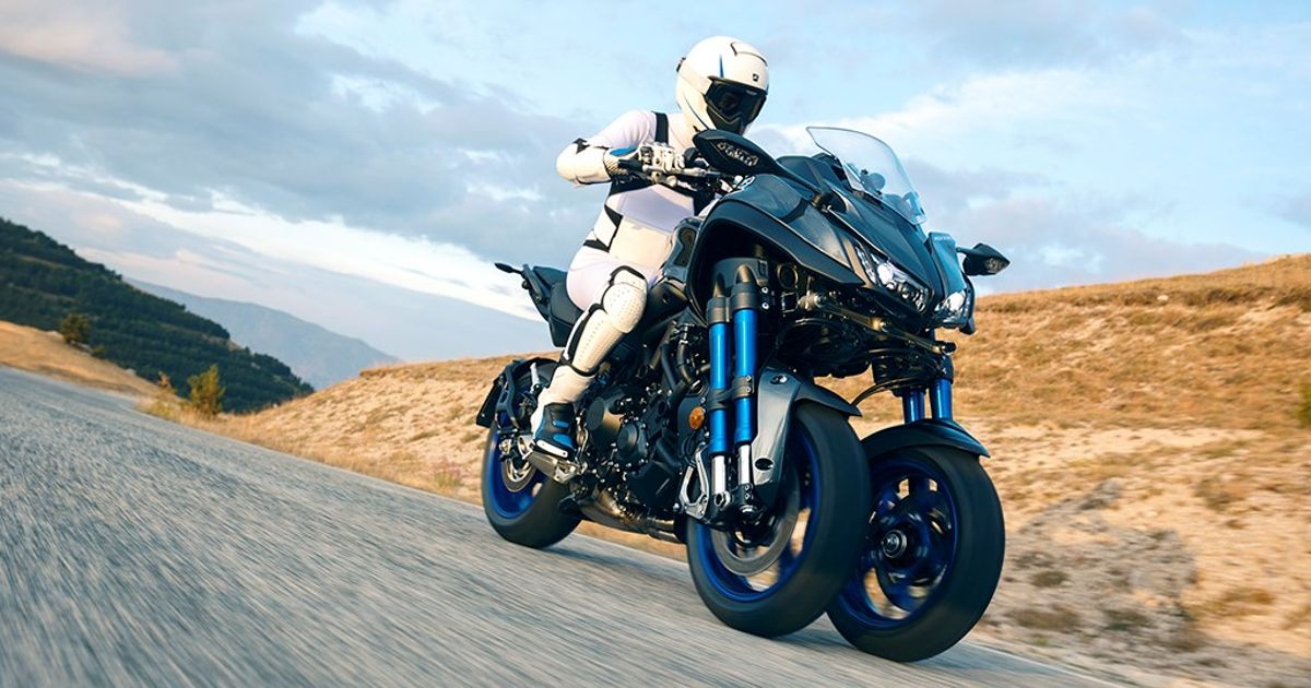 the yamaha niken is the insane three wheeler that somehow made production. Black Bedroom Furniture Sets. Home Design Ideas