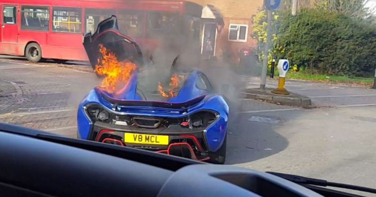 Try Not To Cry As You Watch This McLaren P1 Going Up In Flames