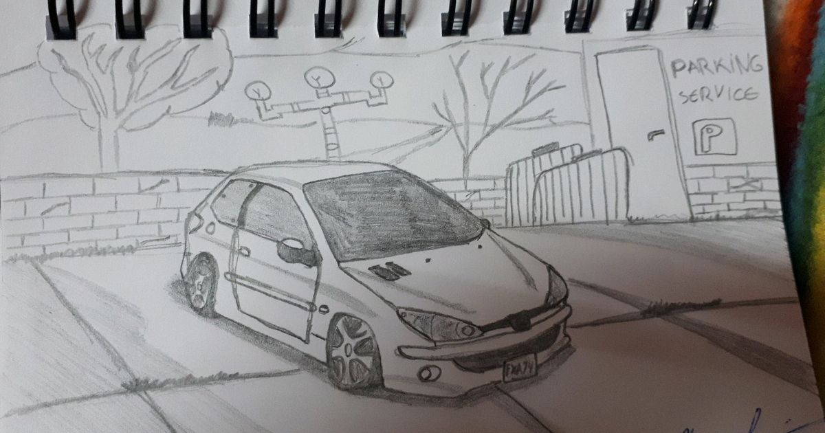 Its A Peugeot 206 Stanced Bdw When I Draw Wheels Im Not Good