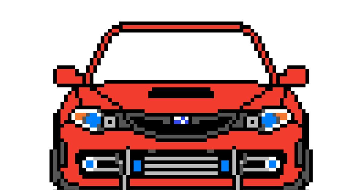 Pixel Art Wrx Sti Hatchback Ge Pixelart