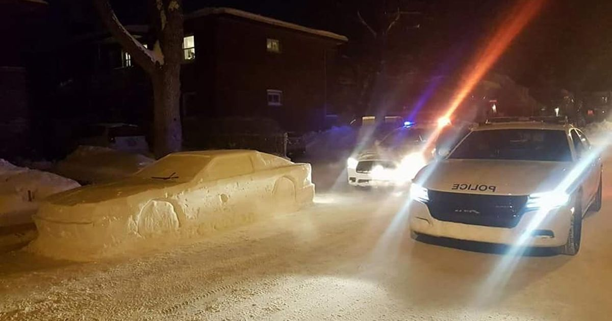 Canadian Police Thought This Snow Sculpture Was A Real Supra