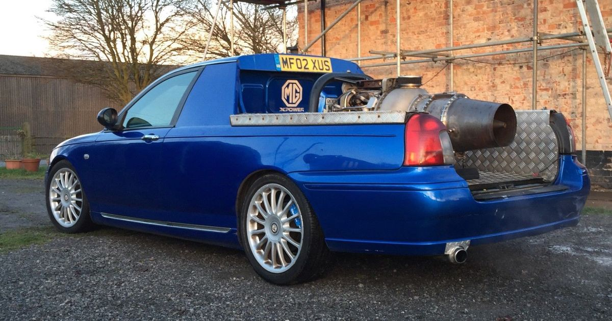 This Road-Legal Jet-Engined MG ZT Pickup Is The Definition Of Insanity
