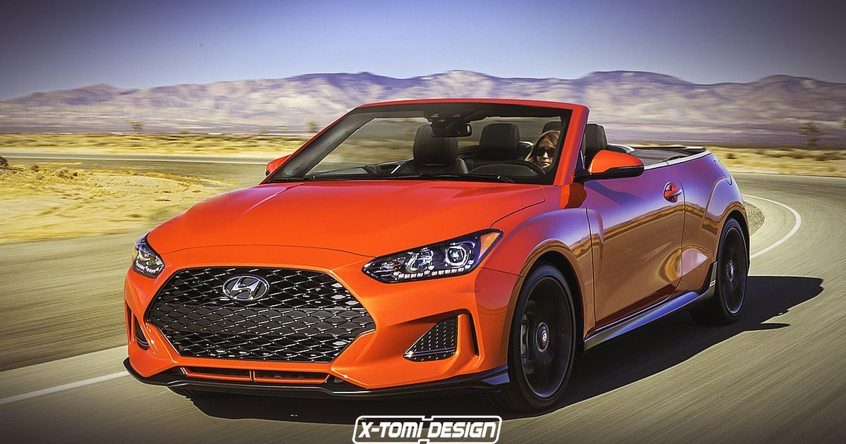Here s The New Hyundai Veloster Rendered In Convertible And  Poverty Spec  Forms