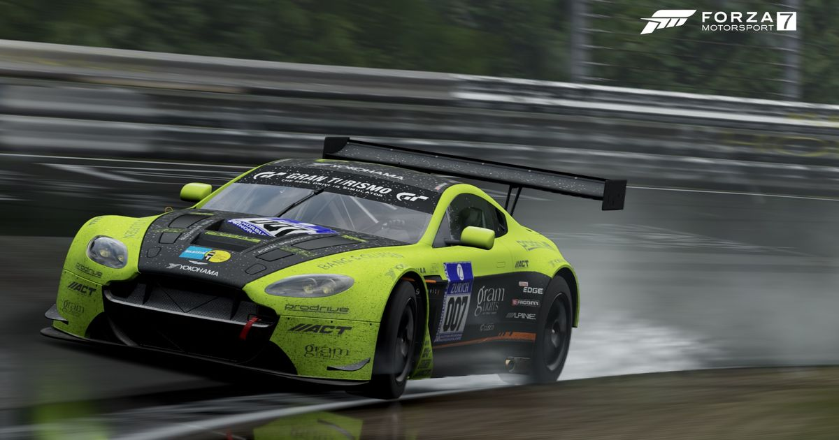 A custom livery for aston martin gt3 in forza motorsport 7