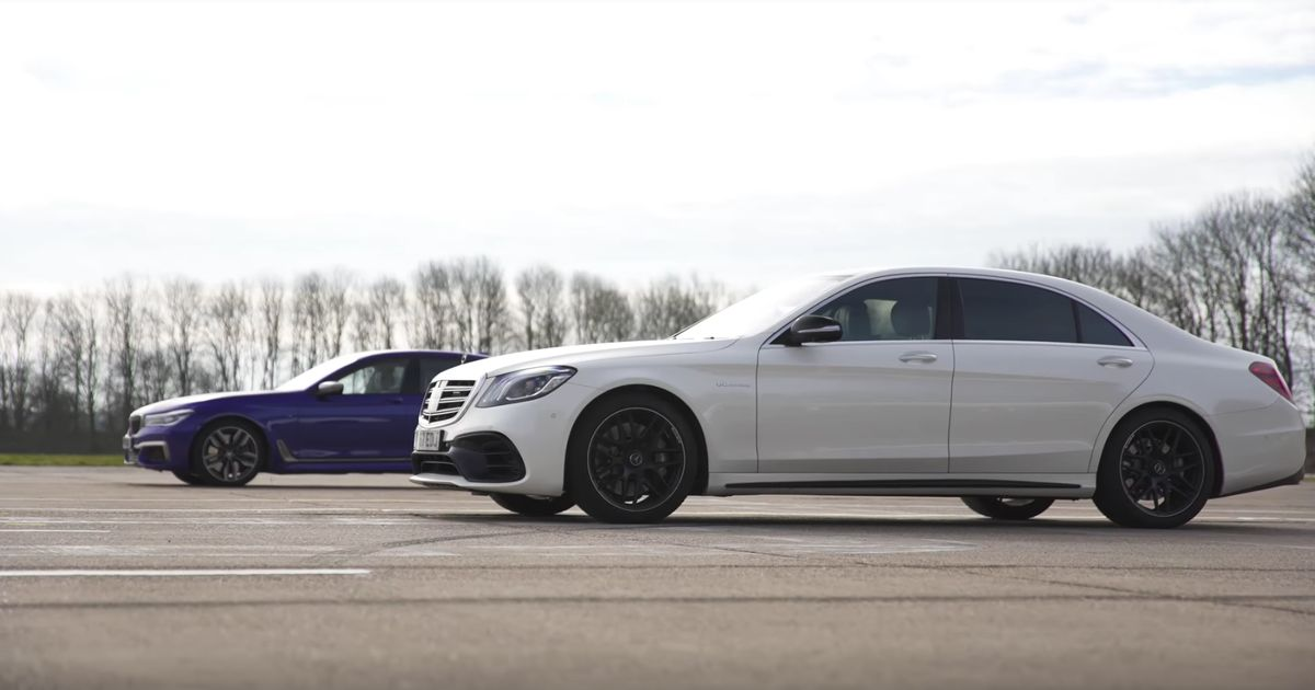 Here\'s What Happens When A BMW M760Li Drag Races An AMG S63