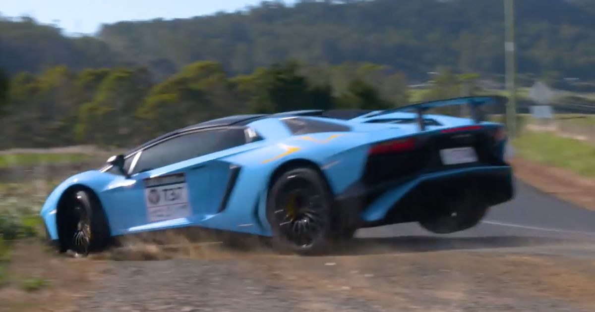 Watch An Aventador Sv Go On A Painful Unplanned Off Road Excursion