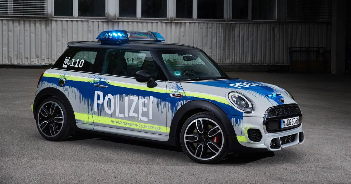 A Mini JCW Hatchback Is The Coolest And Worst Police Car Ever