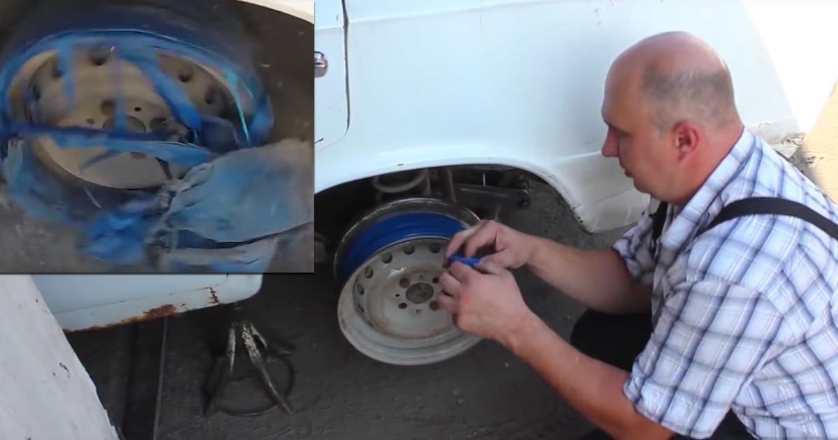 Here's What Happens If You Replace A Tyre With Electrical Tape