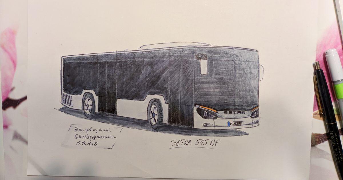 Land Rover Models >> Setra S515 NF Design Sketch + Render