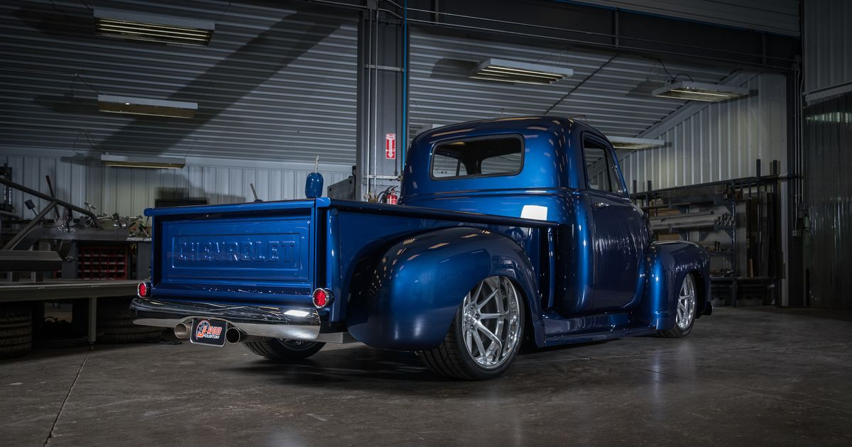Michael S J Rod Amp Custom 1954 Chevy Pickup On Forgeline