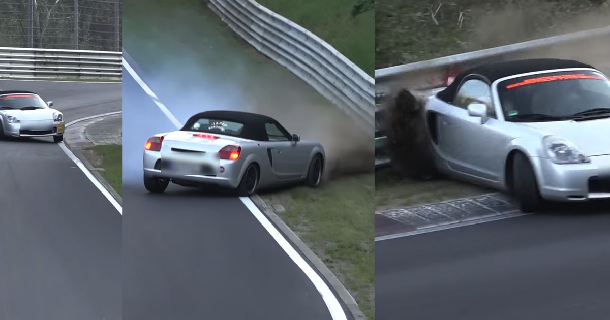 This Nasty Nurburgring Spin Demonstrates The Toyota MR2's Dark Side