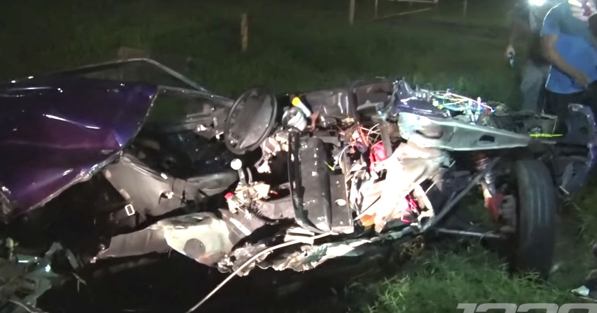 This Mustang Was Torn Apart In A Brutal Street-Racing Crash