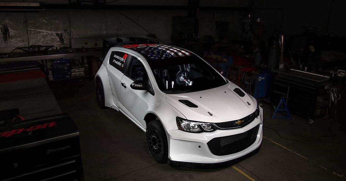 An LS V8 In A Chevrolet Sonic Is Brilliant Rally Madness