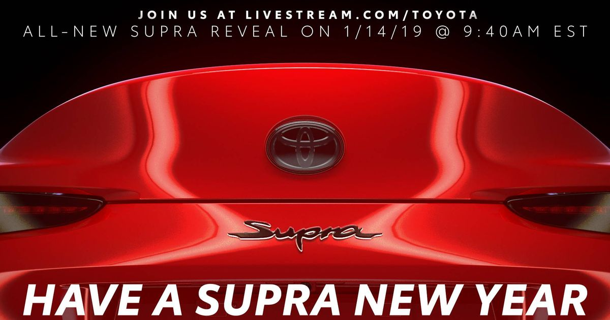 Toyota Supra s Debut Time Revealed In  The Last Teaser